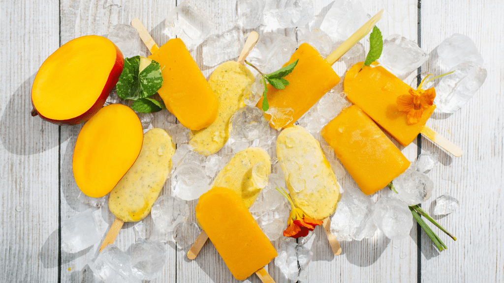 MANGO, MINT & COCONUT POPSICLE