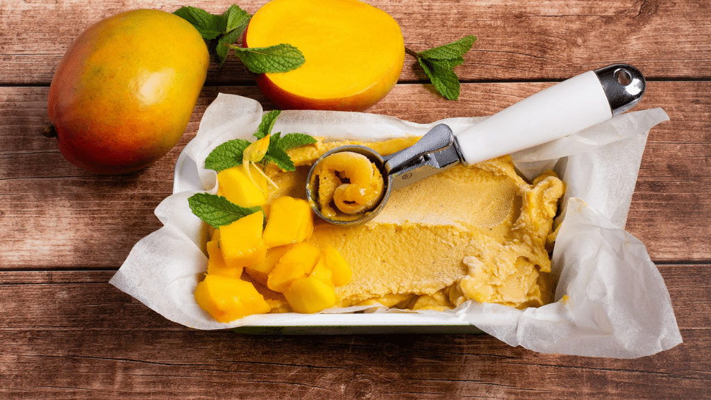 "NO CHURN MANGO ""NICE-CREAM"" (DAIRY FREE)"